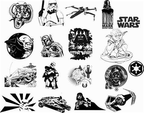 Star Wars Car Vinyl Sticker Auto Decals Vectors