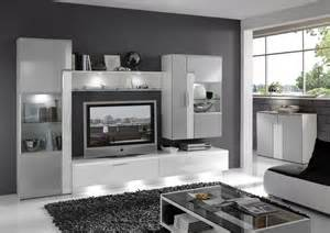 wohnzimmer modern grau grn wohnwand mit sideboard alu metallic weiss hochglanz neu woody 37 00171 ebay