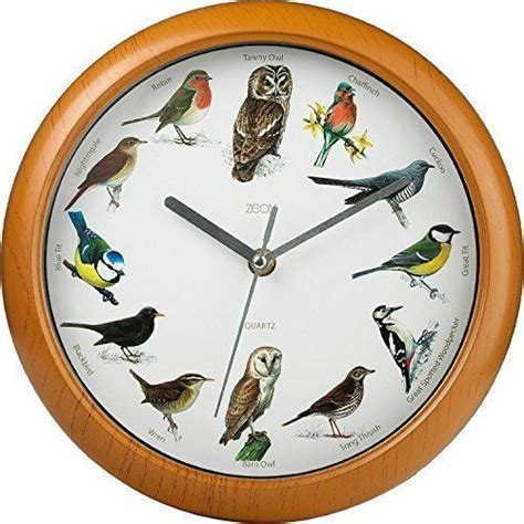 singing birds wall clock  bird sounds  hour sleep