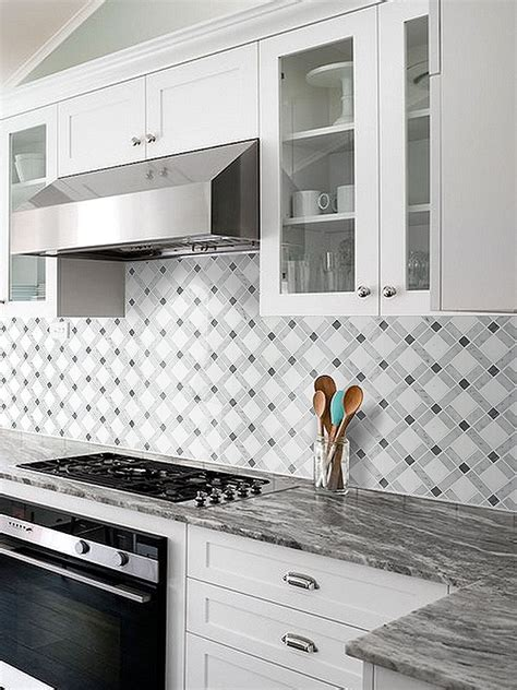 white gray marble mix backsplash tile backsplashcom
