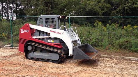 takeuchi tl track skid steer loader  sale  hours multi terrain loader youtube