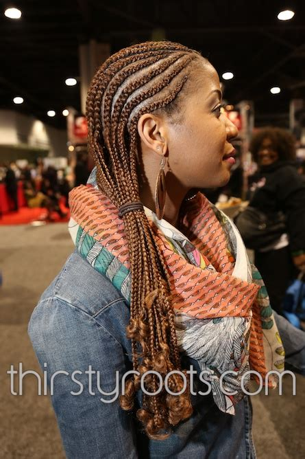 long black braided hairstyle
