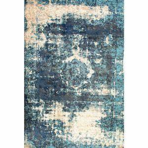 nuloom vintage lindsy blue 9 ft 11 in x 14 ft area rug With tapis carré 200x200