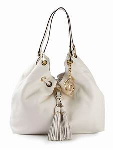 Michael michael kors Large Camden Shoulder Tote in White ...