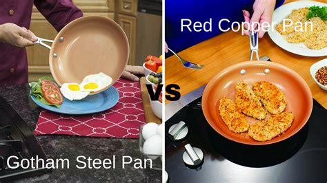 gotham steel pan  red copper pan    buy  cookware geek