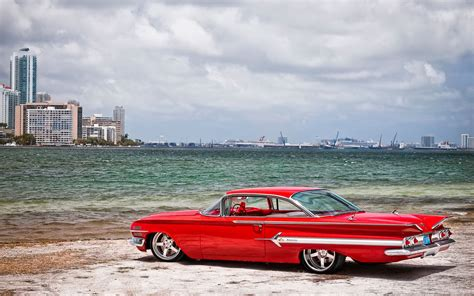 Classic, Red, Cars, Vintage, Widescreen, Desktop