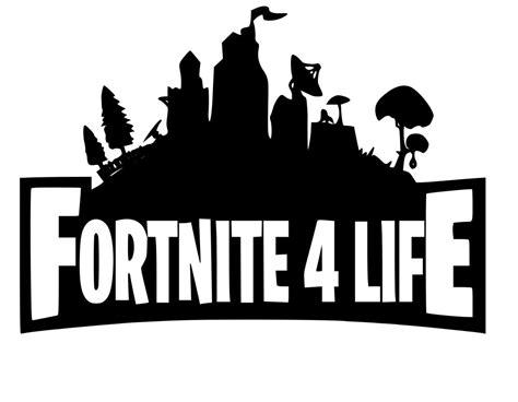 Vinilo Adhesivo Logo Fortnite 4 Life