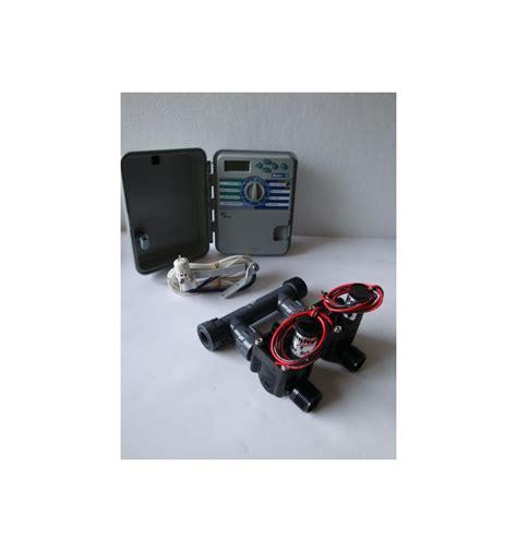 kit con 2 elettrovalvole programmatore xch sensore pioggia
