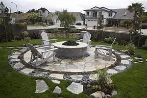 Terrasse Im Garten : feuerstelle im garten gestalten gartens max ~ Whattoseeinmadrid.com Haus und Dekorationen