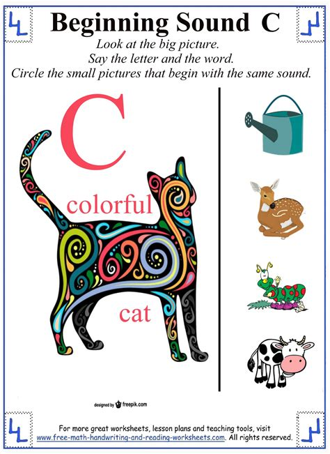 printable letter c worksheets activities consonant