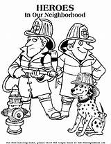 Coloring Firefighter Pages Fire Printable Sheets Safety Fireman Dog Responders Colouring Dalmatian Worksheets Firemen Printables Clipart Heroes Printing Police Enjoy sketch template