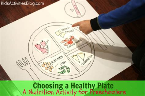 choosing a healthy plate a nutrition activity for 609 | choosing a healthy plate1