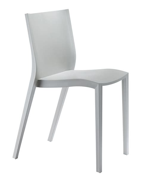 chaise empilable slick slick by philippe starck gris xo