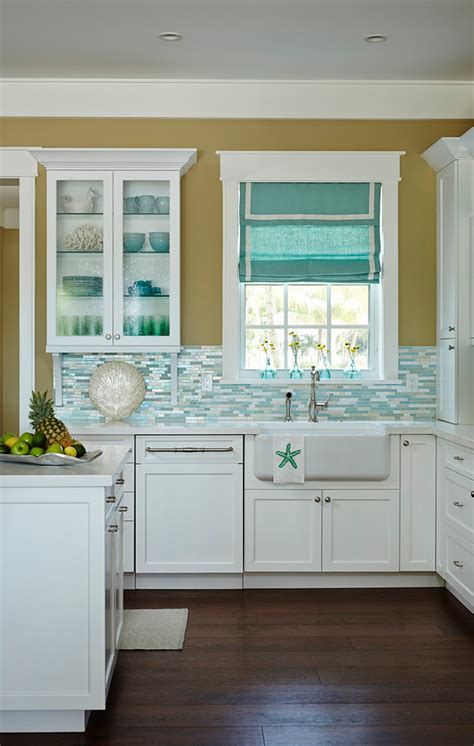 Beach House Kitchen With Turquoise Decor  Home Bunch