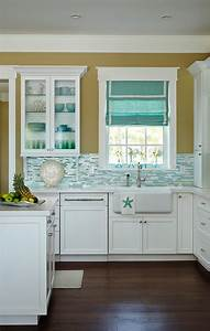beach house kitchen with turquoise decor home bunch With kitchen colors with white cabinets with beach signs wall art