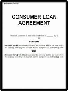 loan agreement template word excel templates With easy loan without documents