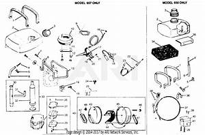 Poulan 657 Gas Trimmer Parts Diagram For Fuel  U0026 Exhaust