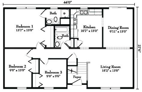 split ranch floor plans ranch style modular homes from gbi avis