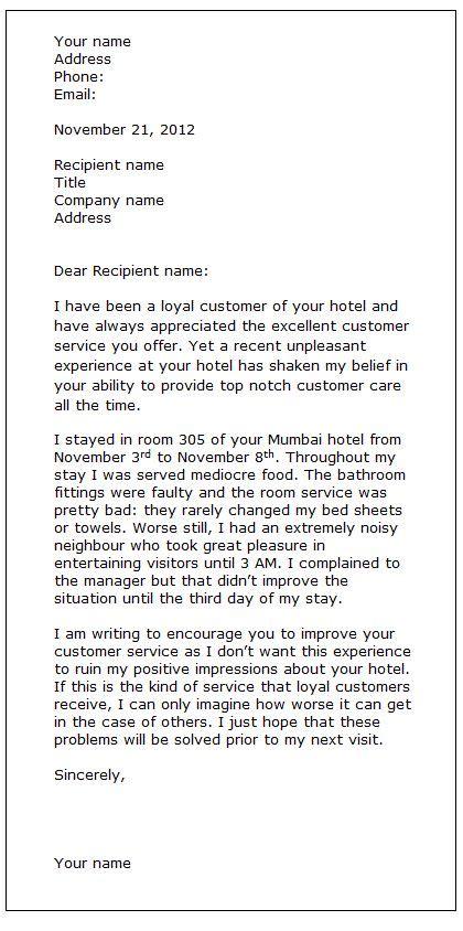 complaint letter sample english class pinterest