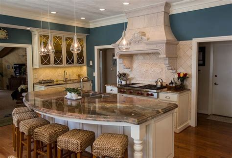 granite top kitchen island with seating interior kitchen picture of island with granite top 8343