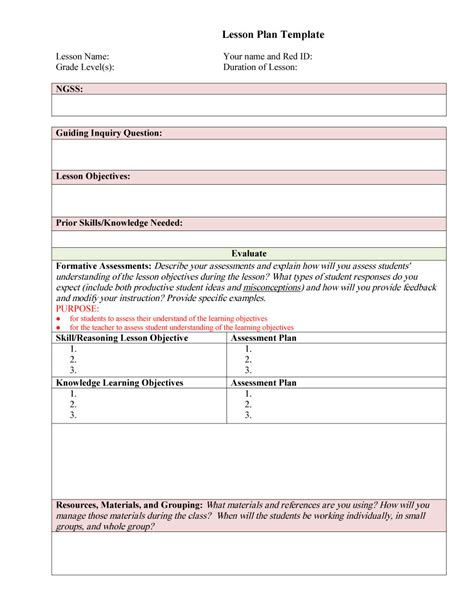 lesson plan template 44 free lesson plan templates common preschool weekly free template downloads