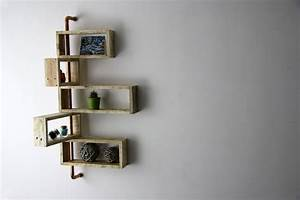 Etagere D Angle En Bois : etagere d 39 angle murale nitya yvar design mobilier ~ Dailycaller-alerts.com Idées de Décoration