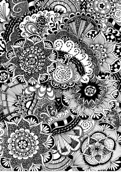 coloring page  adults flowers  doodles