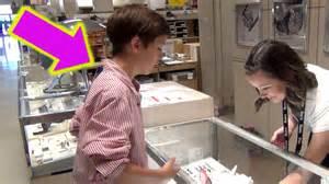 buying an engagement ring 12 yr kid buying engagement ring prank denis denisyuk