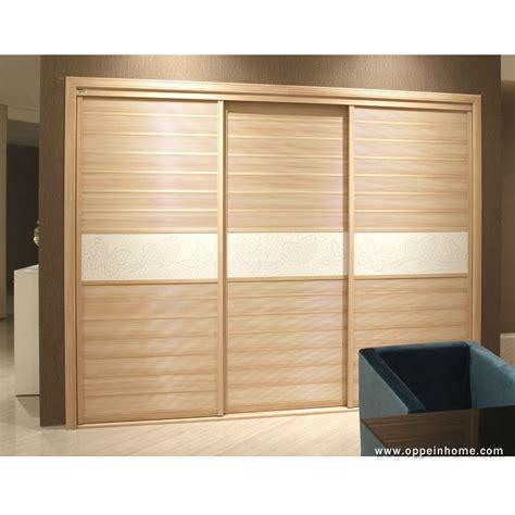 oppein modern bedroom furniture 3 sliding doors wooden