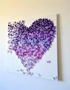 Deko Aus Papier : 18 wanddeko selber machen schmetterling deko lila ~ Lizthompson.info Haus und Dekorationen