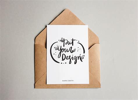 paper postcard mockup psd good mockups