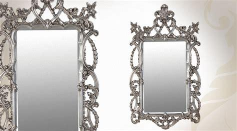 miroire chambre miroir baroque argenté style intriqué 122 cm