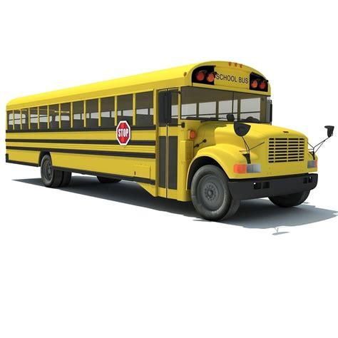 classic school bus cgtrader