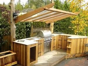 überdachung Für Grill : outdoor k che mit berdachung aus holz und glas ~ Lizthompson.info Haus und Dekorationen