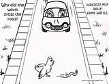 Road Coloring Cross Worm Crossing Chicken Printable Designlooter Dirt 14kb 309px sketch template
