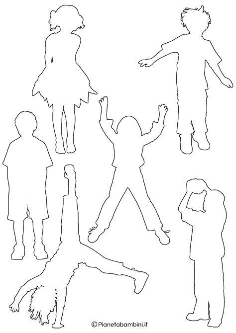 sagome  bambini da colorare  ritagliare pianetabambiniit