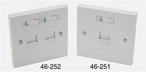 krone rj45 k single wall outlet