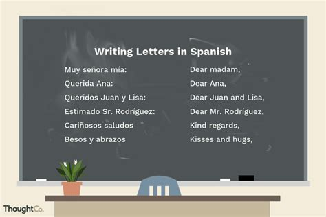 write  business  personal letter  spanish