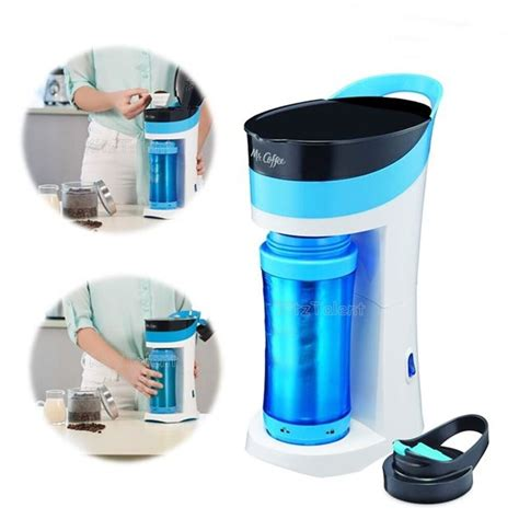 Shop for most sought after coffee maker. Mr Coffee Cold Brew Coffee Maker Carafe w/ Insulated Mug 16 oz Blue Compact Cup | eBay