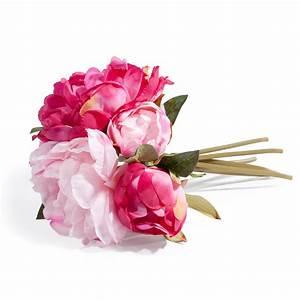 bouquet de pivoines artificielles roses h 25 cm gladys With chambre bébé design avec livraison de bouquets de fleurs a domicile