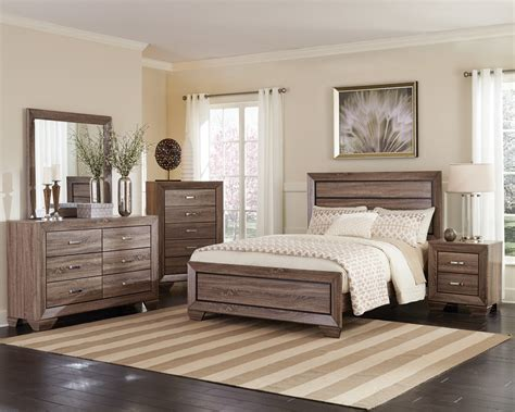 coaster kauffman bedroom collection washed taupe