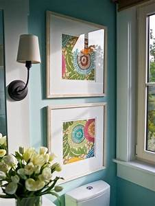 Wall decoration using cloth : Framed fabric art on