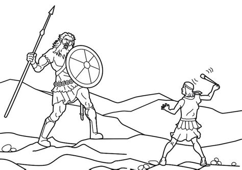 david  goliath coloring pages sunday school st
