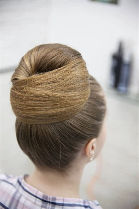 chignon rond elegance bun hairstyles short hair styles