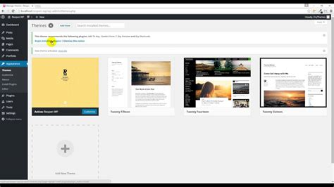 Reopen Wordpress Theme  Installation And Demo Content
