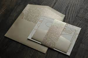 gold glitter wedding invitations chagne