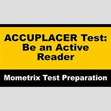 Accuplacer Reading Comprehension Study Tip About Being An Active Reader #accuplacerreading