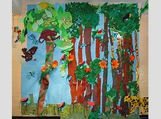 Drawn rainforest collage ks2 Pencil and in color drawn