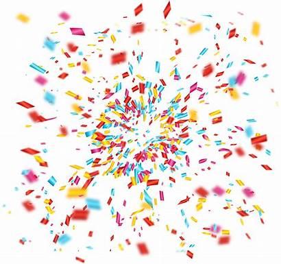Fireworks Confetti Celebration Transparent Clipart Celebrate Firework