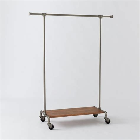 Decorative Rolling Garment Racks by Pipeline Clothing Rack Contemporary Clothes Racks By
